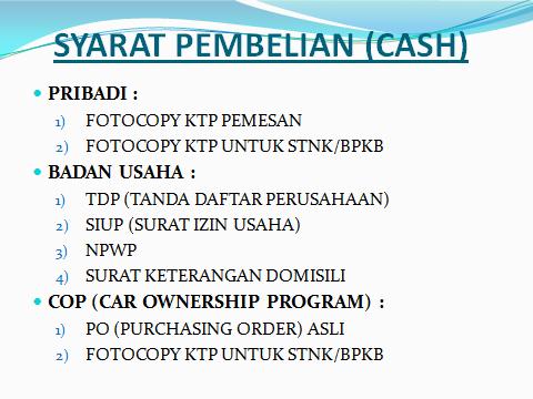 SYARAT PEMBELIAN cash